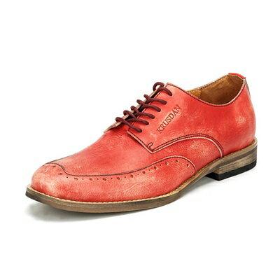 短靴真皮繫帶靴子-巴洛克雕花復古亮麗男靴2色73kk50【獨家進口】【米蘭精品】