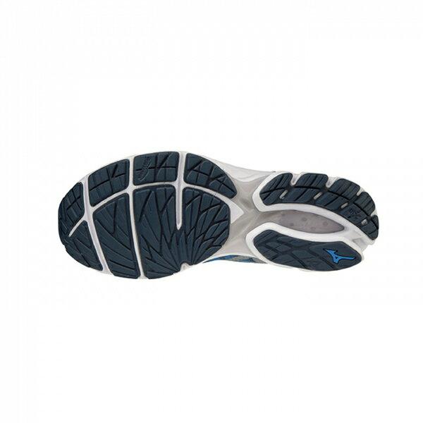 MIZUNO RIDER WAVEKNIT [J1GC193139] 男鞋 運動 慢跑 馬拉松 輕量 避震 耐磨 藍