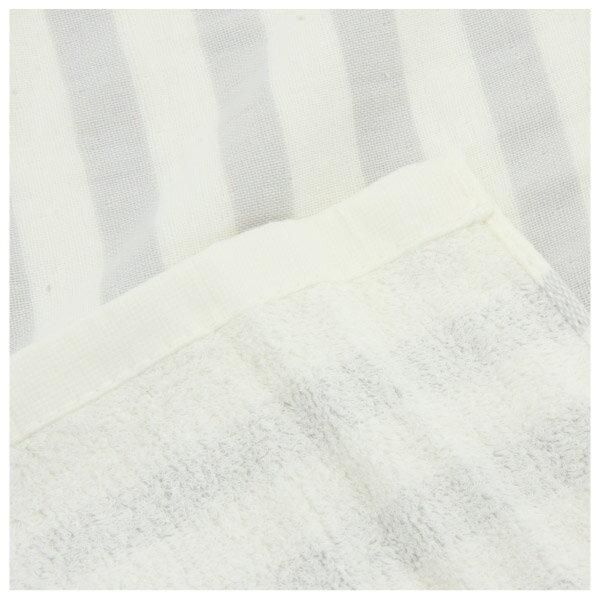 純棉紗布大浴巾 BORDER LGY 68×140 NITORI宜得利家居 3