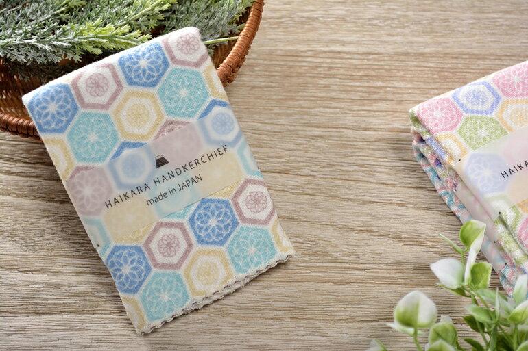 日本今治 - KONTEX - Haikara kikko方巾(藍)《日本設計製造》《全館免運費》,純棉100%,觸感細緻質地柔軟,吸水性強,日本設計製造,天然水洗滌工法,不使用螢光染料,不添加染劑