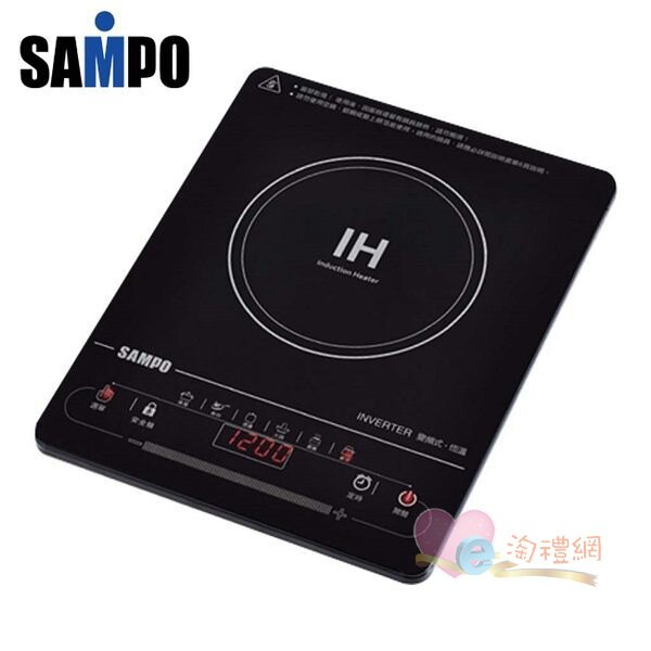 淘禮網      SAMPO 聲寶 超薄觸控變頻電磁爐 KM-SF12Q