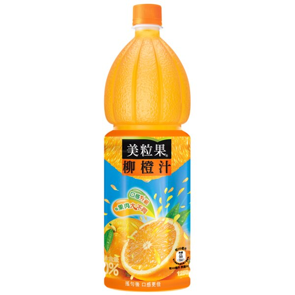 ●美粒果柳橙汁1250ml-(1瓶)【合迷雅好物商城】