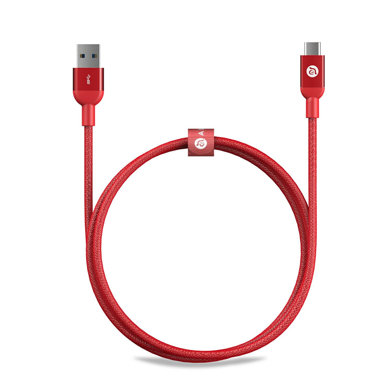 ~亞果元素~CASA M100 USB Type~C 公 對 USB 3.0 公 金屬編織