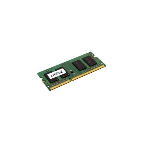 Crucial 8GB (1 x 8 GB) DDR3 SDRAM Memory Module - 8 GB (1 x 8 GB) - DDR3 SDRAM - 1600 MHz DDR3-1600/PC3-12800 - 1.35 V - Non-ECC - Unbuffered - 204-pin - SoDIMM 0