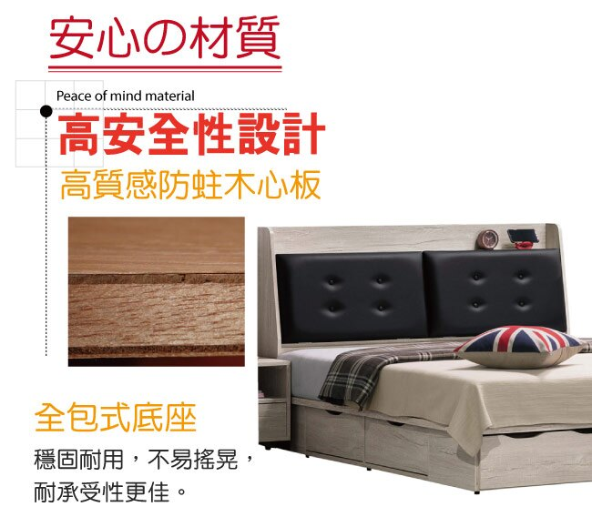 【綠家居】戈波 時尚5尺皮革雙人抽屜床台組合(床頭箱+六抽屜床底)