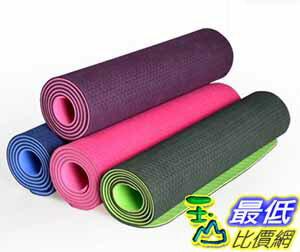 [大陸直寄] 奧義 tpe 瑜伽墊 加寬愈加墊 加厚瑜珈墊子 加長防滑 專業運動毯 健身墊
