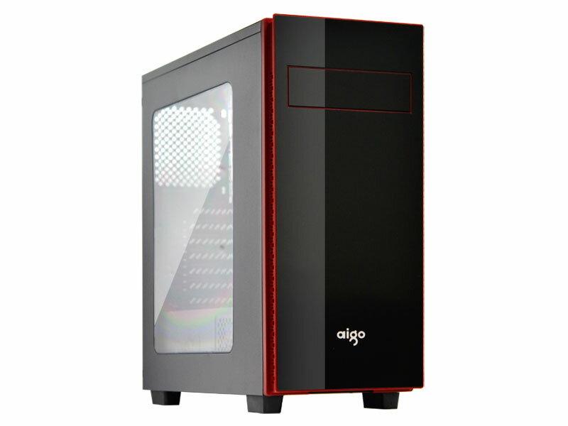 【迪特軍3C】aigo 愛國者 典雅3 透測 外露1大2小 USB3.0電腦機殼 亮面面板高質感設計 下置電源