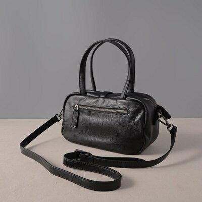 肩背包真皮手提包-牛皮純色休閒方型女包包3色73ut35【獨家進口】【米蘭精品】 2