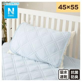 接觸涼感 枕頭保潔墊 45×55 N COOL T BL 17 淺藍