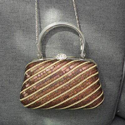 肩背包亮片手提包-時尚精美鑲鑽硬盒女包包73so19【獨家進口】【米蘭精品】