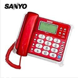 台灣哈理 三洋 SANYO 來電顯示有線電話 TEL-813  紅 / 白  2色