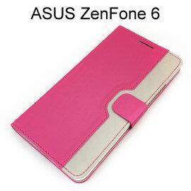 【Dapad】雨絲紋雙色皮套 [桃+香檳金] ASUS ZenFone 6