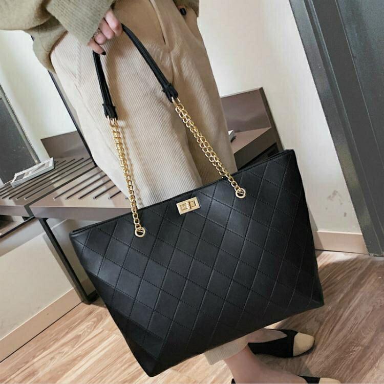 簡約包包女包新款2021手提包女大包大容量側背包網紅高級感托特包  夏季新品【快速出貨】