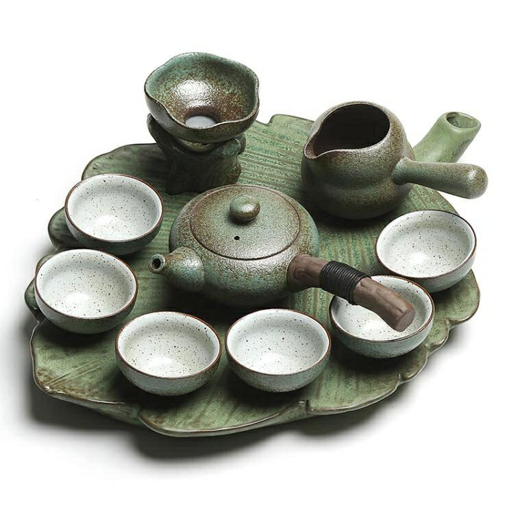 真盛創意粗陶茶具套裝復古日式幹泡盤整套陶瓷功夫茶具茶壺茶家用【快速出貨】HM