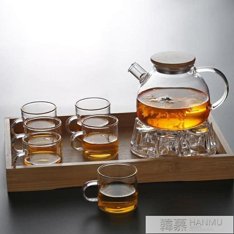 透明玻璃茶壺水果壺 可加熱煮茶壺大容量涼水壺白開杯家用 【快速出貨】  YTL