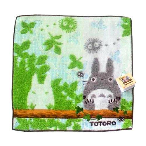 【真愛日本】14021400044 純棉方巾-灰龍貓休憩  宮崎駿 龍貓 貓公車 浴巾 毛巾 居家用品 沐浴用品