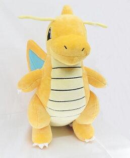 X射線【C234479】快龍30cm站姿款玩偶,絨毛填充玩偶玩具公仔抱枕靠枕娃娃