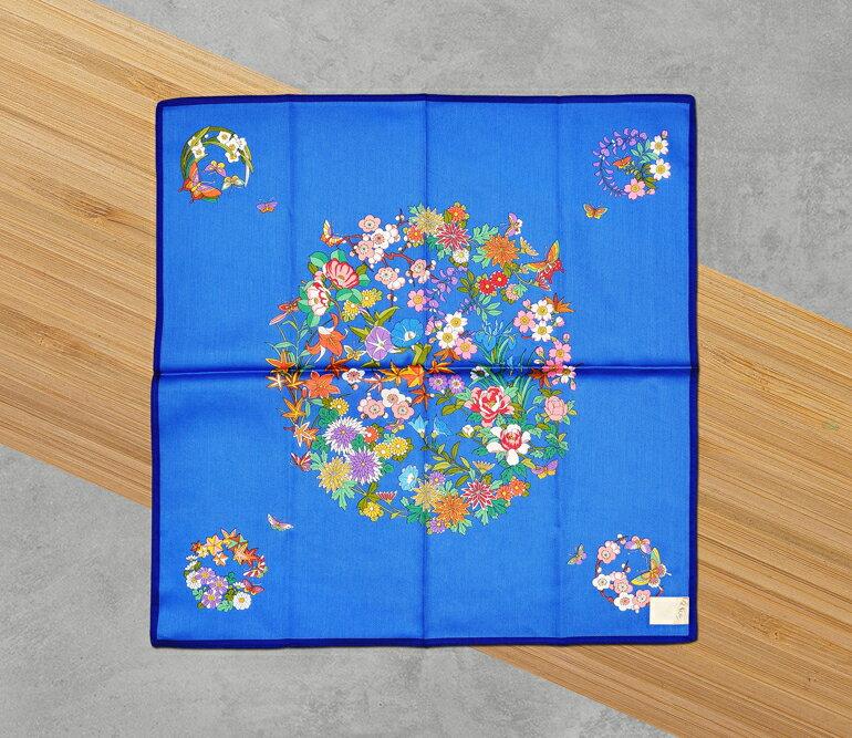 日本集采苑 - Flower 百花繚乱(藍)《日本設計製造》《全館免運費》,親自手作專業的手染技法與縫紉