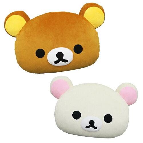 【享夢城堡】Rilakkuma拉拉熊 頭型抱枕 (M)