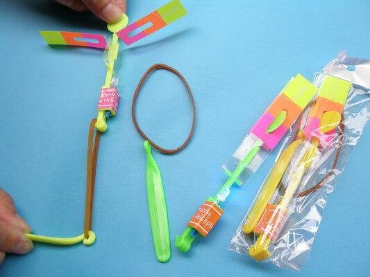 LED彈射竹蜻蜓 LED竹蜻蜓 發光竹蜻蜓 彈射飛箭(小單光/彈射型)/一袋12組入{定15}