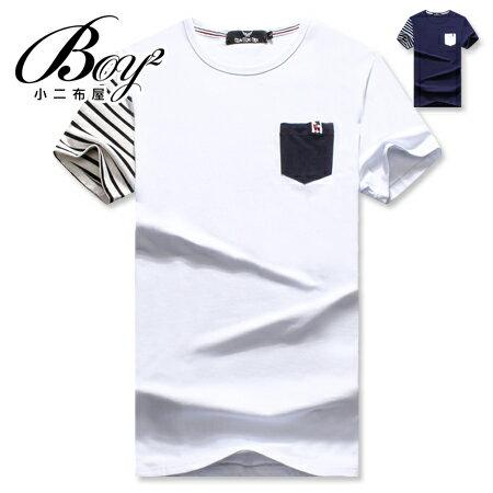 ☆BOY-2☆【OE50205】韓版休閒條紋短袖T桖 0