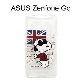SNOOPY 史努比透明軟殼 [英國] ASUS ZenFone Go ZC500TG【台灣正版授權】