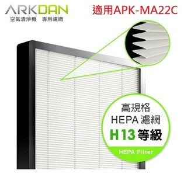 『ARKDAN』☆阿沺(適用APK-MA22C)HEPA高效濾網A-FMA22CH*免運費*
