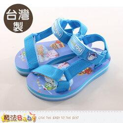 童鞋 台灣製POLI波力正版織帶涼鞋 魔法Baby~sa71126