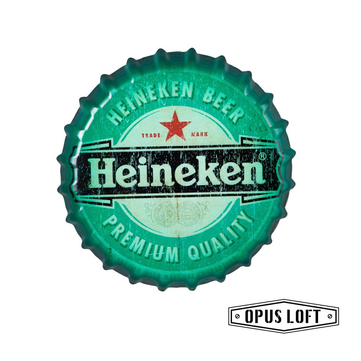 LOFT仿舊啤酒瓶蓋壁飾-海尼根