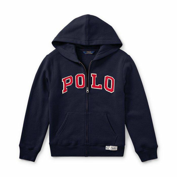 美國百分百【Ralph Lauren】外套 RL 經典 polo logo 小馬 連帽 夾克 深藍 I729
