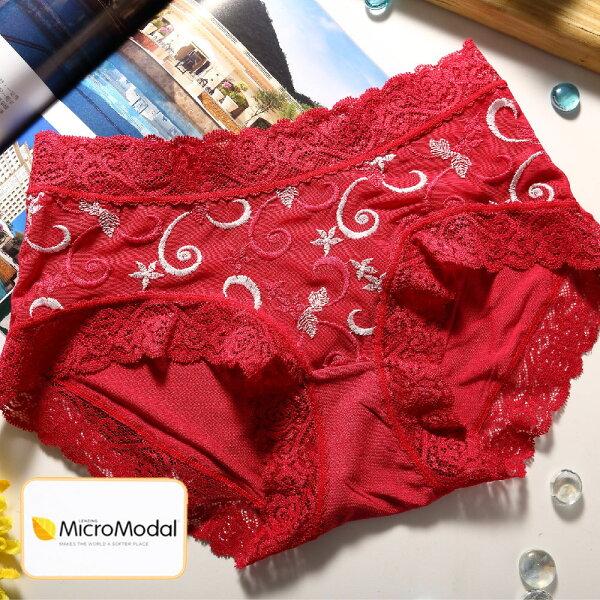 shianey席艾妮:女性中腰蕾絲褲莫代爾纖維台灣製造No.227-席艾妮SHIANEY