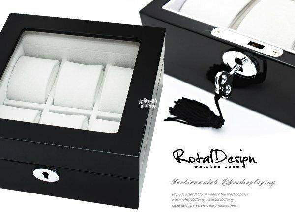 กล่องสะสมนาฬิกา [6 ชิ้น] กล่องใส่นาฬิกาไม้ซุงดำอบเปียโน (เปียโน 01-3) กล่องใส่เครื่องประดับมูลค่าจุดของขวัญ