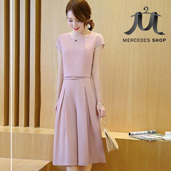 《全店75折》韓系兩件式修身上衣+寬腿褲 (M-2XL,3色) - 梅西蒂絲(現貨+預購) 2