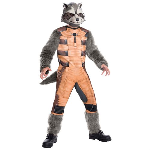 Guardians Of The Galaxy Marvel Deluxe Rocket Raccoon Child Costume Small 0