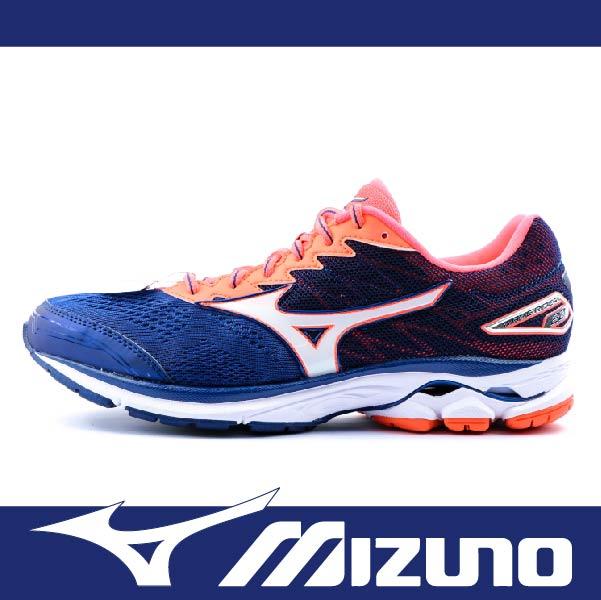 萬特戶外運種動 MIZUNO美津濃 J1GC170401 男慢跑鞋 WAVE RIDER 20 耐磨大底 舒適 吸震 藍色