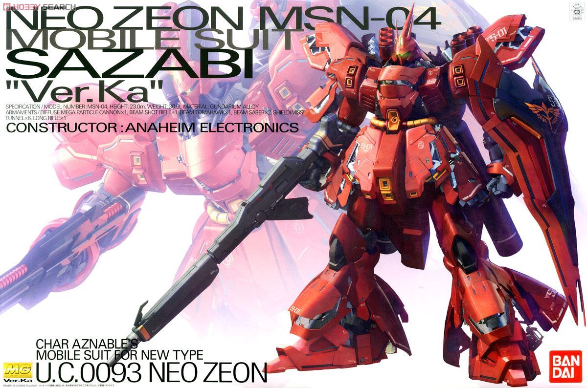 ◆時光殺手玩具館◆ 現貨 組裝模型 模型 鋼彈模型 BANDAI MG 1/100 機動戰士鋼彈 逆襲的夏亞 MSN-04 SAZABI 沙薩比 Ver.Ka