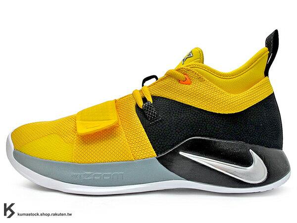 2018強力登場PaulGeorge個人簽名鞋款NIKEPG2.5EP黃黑前黏扣帶前掌10mmZOOMAIR氣墊襪套式內靴概念輕量化籃球鞋PG2(BQ8453-700)0818
