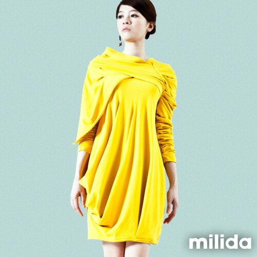 【Milida,全店七折免運】-秋冬單品-洋裝款-立體肩袖造型剪裁 6