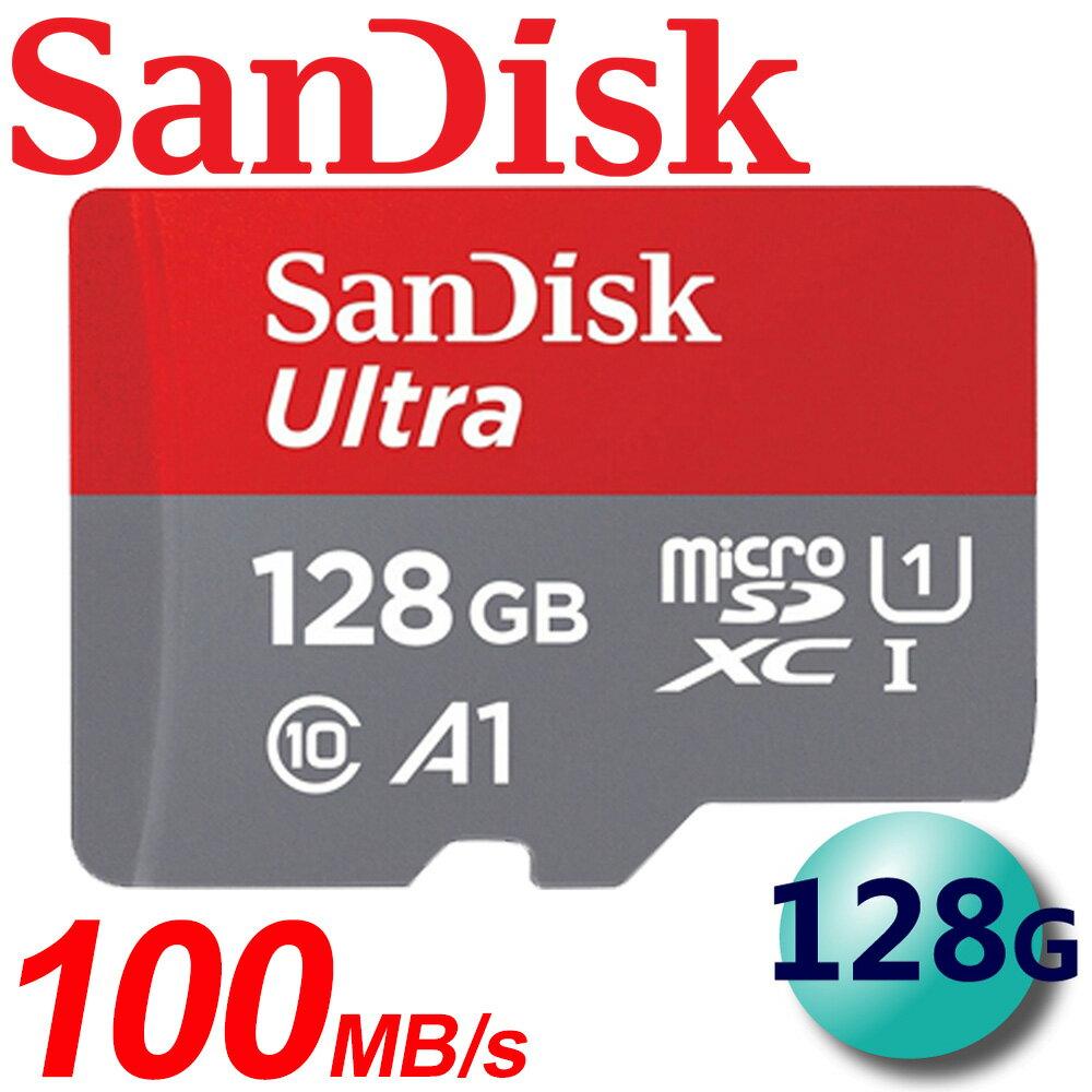 【公司貨】SanDisk 128GB 100MB/s Ultra microSDXC TF U1 A1 記憶卡