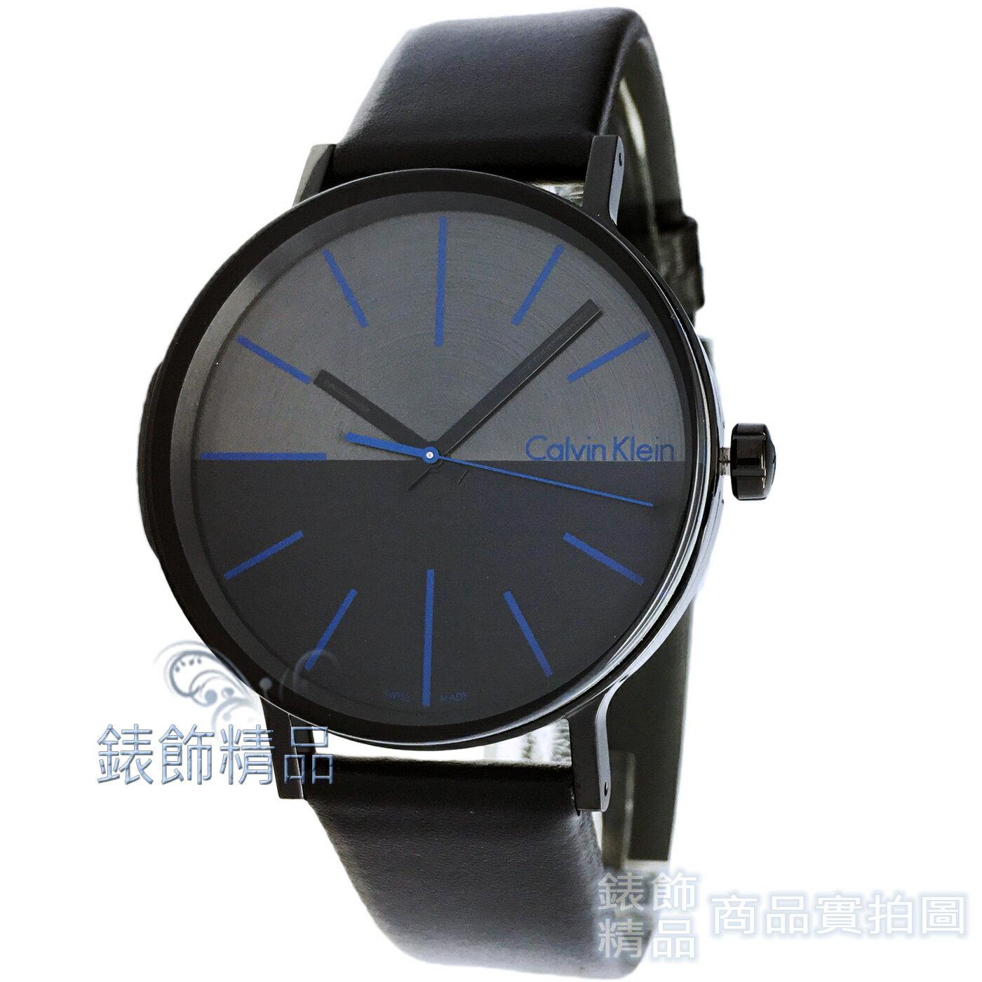 【錶飾精品】Calvin Klein CK K7Y214CZ 鼓動Boost系列立體鏤空玻璃黑面藍針皮帶錶 全新原廠正品