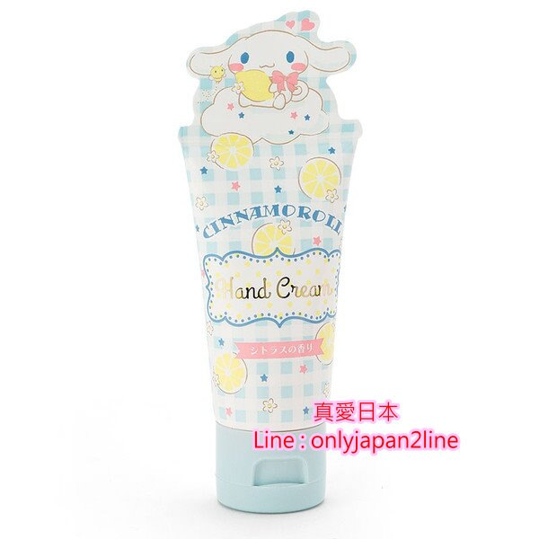 【真愛日本】16093000008  造型香味護手霜-CN格紋藍   三麗鷗家 喜拿狗 大耳狗  乳液 手部保養 滋潤