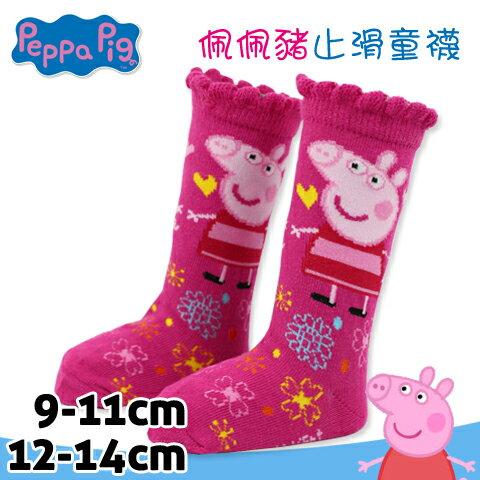 佩佩豬止滑童襪 長統襪 粉紅小豬 台灣製 Peppa Pig