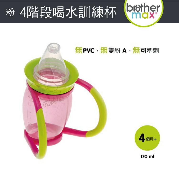 【大成婦嬰】英國 Brother Max 4 階段喝水訓練杯(71312) 顏色隨機出貨