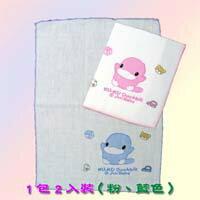 【大成婦嬰】KUKU 酷咕鴨 紗布緹花2入洗澡巾2343 純棉100%-台灣製造 1