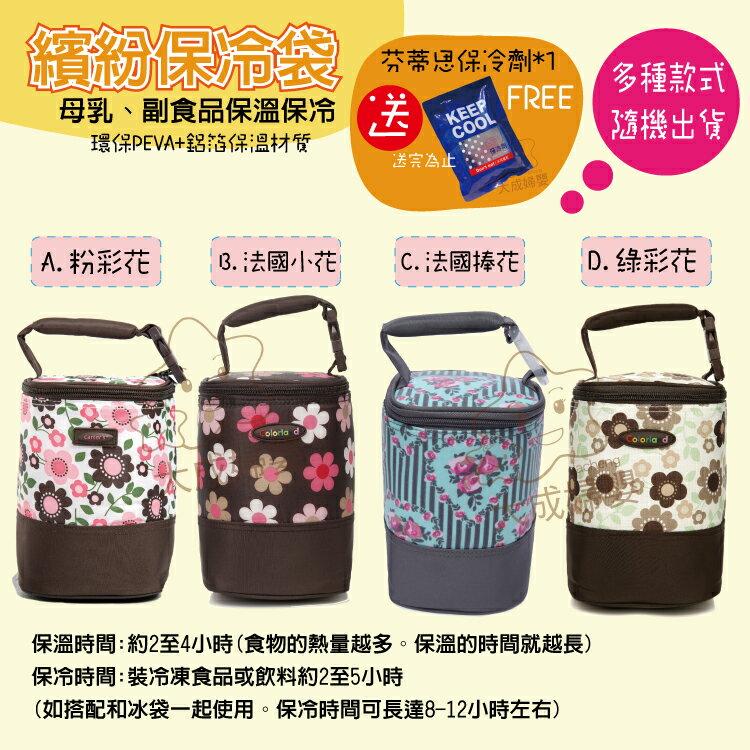 【大成婦嬰】Colorland 母乳保冷運輸袋 副食品保溫袋(隨機出貨) 加送保冷劑*1 儲乳 保冷