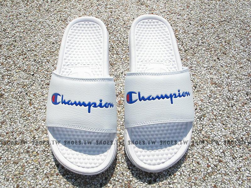 Shoestw【733250200】CHAMPION 拖鞋 運動拖鞋 小LOGO 白色 男女尺寸 1
