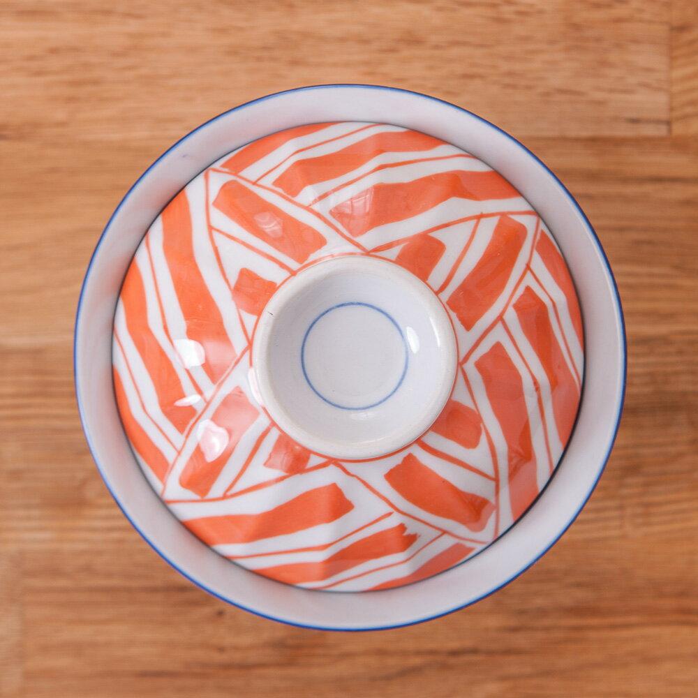 【絕版品最低3折起】青窯手繪幾何附蓋麵碗14cm-生活工場 7