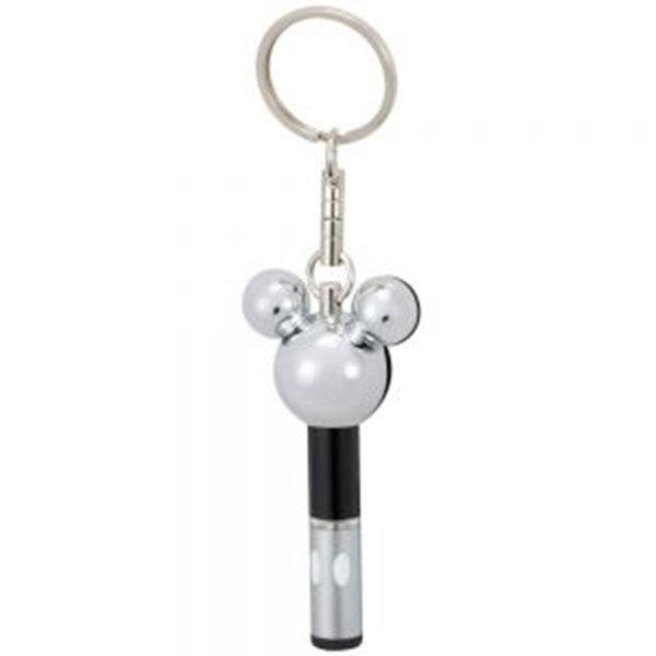 權世界@汽車用品 日本 NAPOLEX Disney 米奇頭型除靜電鑰匙圈 WD-183