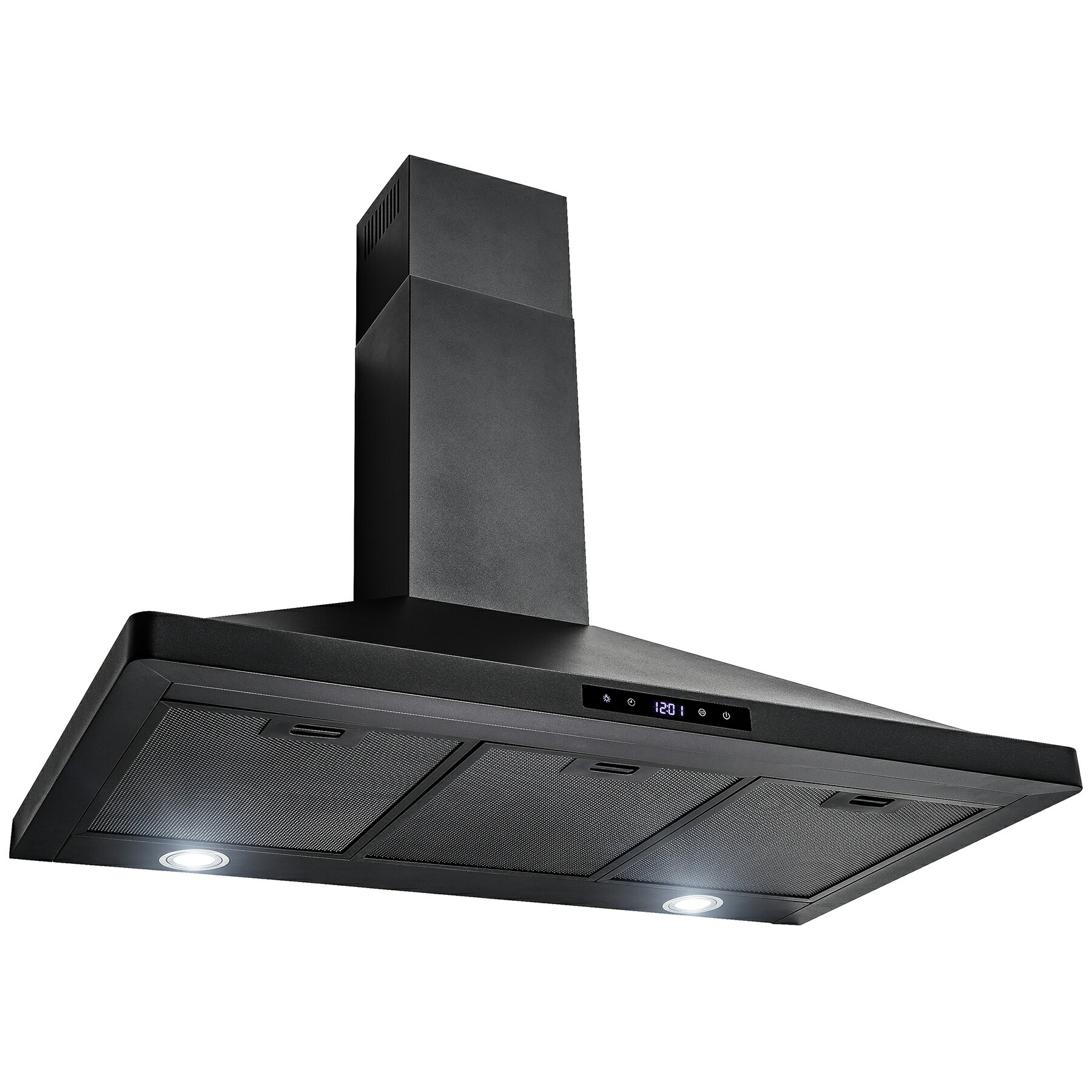 "AKDY Black Finish 36"" Stainless Steel Touch Control Wall Mount Range Hood Cooking Fan Vent 3"