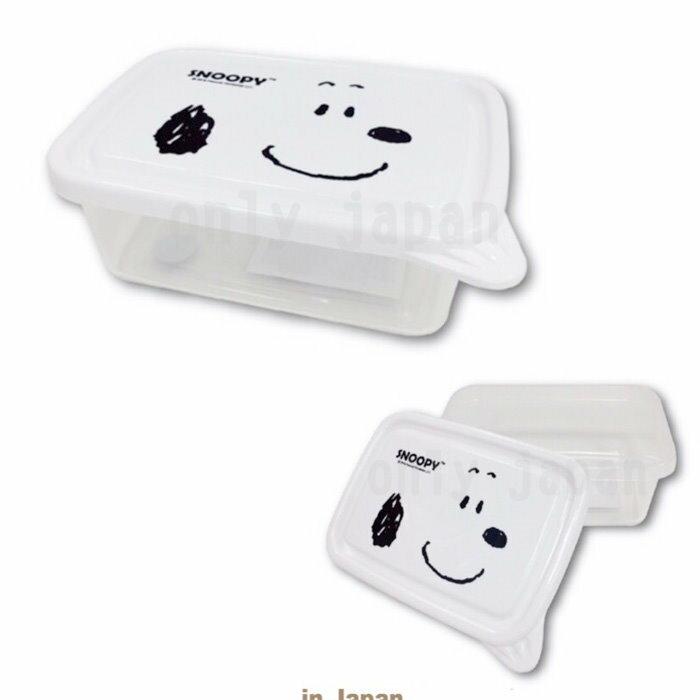 【真愛日本】18052900004 塑膠保鮮盒-SN大臉白 史努比 SNOOPY 史奴比 收納盒 保鮮盒 塑膠製 食器 廚房用品
